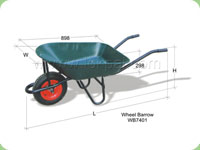 Wheel Barrow Canvas Trolley